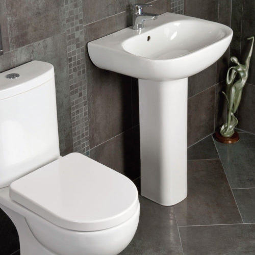 Rak Tonique 4 Piece Toilet & Basin Bathroom Suite - 1 Tap Hole